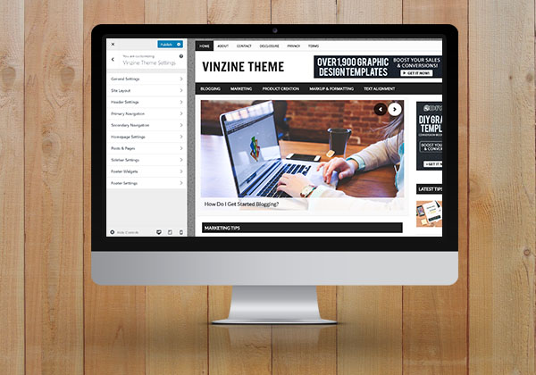Vinzine Pro Customizer Plugin