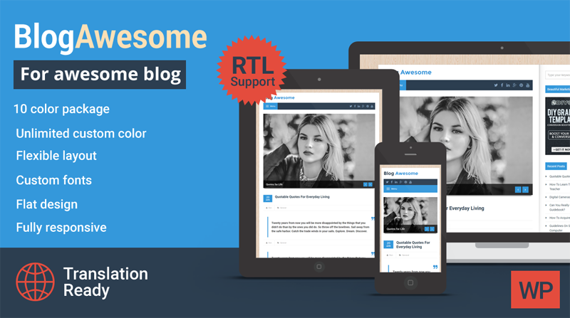 Blog Awesome WordPress Theme